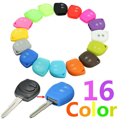 AU 2 Button Silicone Key Case Fob Cover for Suzuki Swift SX4 Grand Vitara Jimny