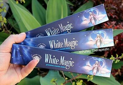WHITE MAGIC MASALA INCENSE STICKS~Green Tree 15gms x 3 Wicca Smudge Wicca Reiki