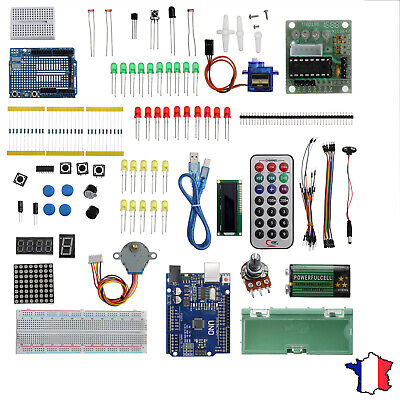 96 en 1 UNO R3 Starter Kit for Arduino Servo Ultrasonic Motor Relay RTC DIY-FR