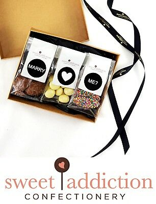 Sweet Addiction Premium Chocolate Wedding Proposal Gift Hamper Box - Marry Me