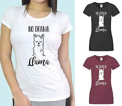 NO DRAMA LLAMA FUNNY KIDS NOVELTY T-SHIRT ALL SIZES XMAS BIRTHDAY L@@K !!!!