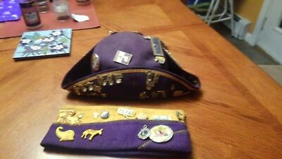 dfb8b6e413b3e Rare Vintage Lions Club Revolutionary Hat With Many Pins 1950s 1960s 1970s  Hats