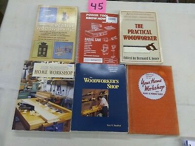 6 woodworking books Lot#45