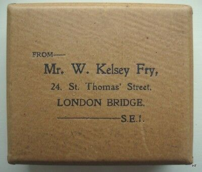 Very Rare 1930S Cardboard Denture Postal Box. Sir William Kelsey Fry.  Kentmere.