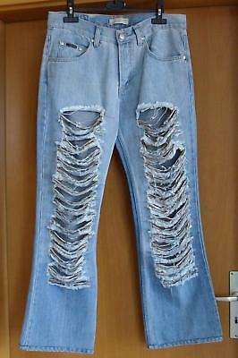 adb744be07d1b6 Damen Stretch Zerrissene Leggins Jeggings Hohe Taille Denim Hosen Jeans Gr.  38.