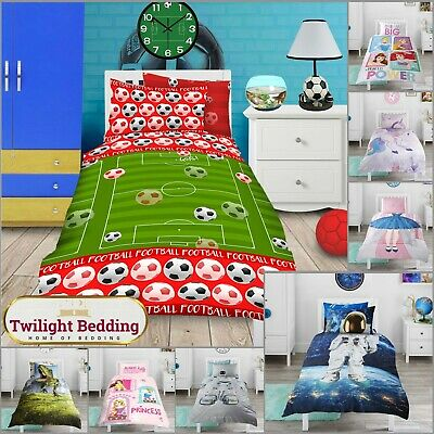 Multi Disney Characters Kids Single Duvet Cover/Fitted Sheet For Boys Easy Care