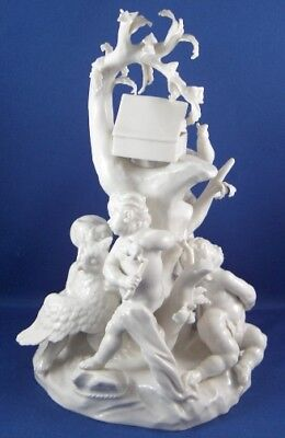 Antique Large Nymphenburg Porcelain Bird Catcher Figurine Figure Porzellan Figur