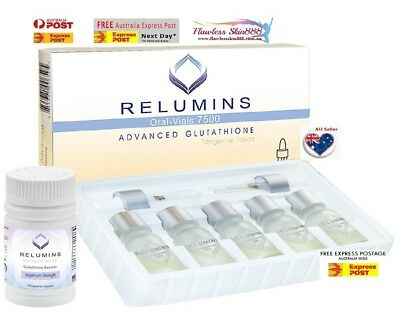 Authentic Relumins Advanced Glutathione 7500mg with Gluta Booster - AU Seller