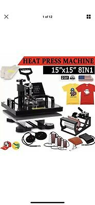 "8IN1 15""x15"" Combo T-Shirt Heat Press Transfer Mug Plate Machine Multifunctional"