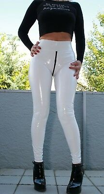 PUSSYRIOT 3-Wege-Ouvert-Zip BOOTY Leggings HL5A_ZV6 CrystalLac Z360 - WEISS - S