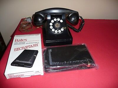 Antique Telephone Bell System by Western Electric F1 and new BATES Secretary