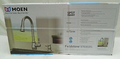 Moen Pull-Down Sprayer Kitchen Faucet 1-Handle Spot Resist Soap Lotion Dispenser