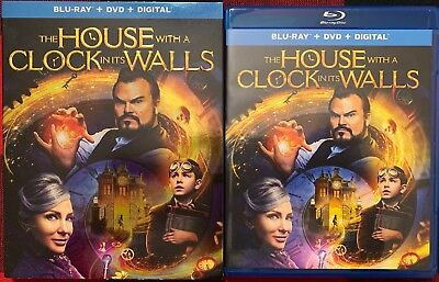 The House With A Clock In Its Walls Blu Ray Dvd 2 Disc Set + Slipcover Sleeve