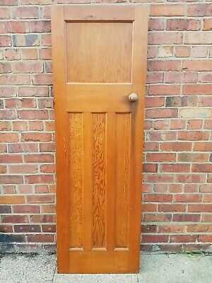Original old vintage Art Deco 1930's 1 over 3 panels solid wooden doors