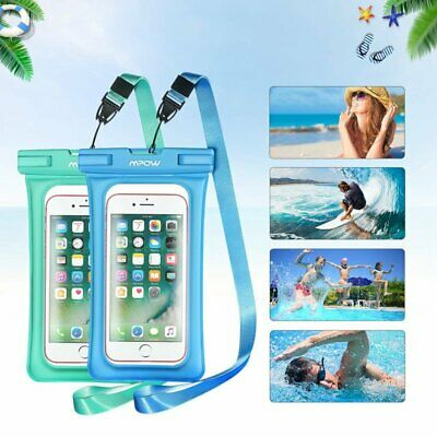 2PCS Mpow Floating Waterproof Case IPX8 Universal Phone Pouch Underwater Dry Bag