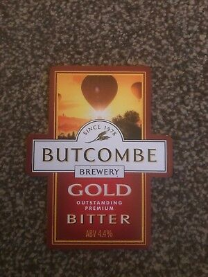 Butcombe Gold Bitter Beer Pump Clip Breweriana Brand New Free Fast P+P