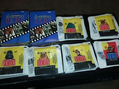 STAR WARS 1983 Return of Jedi OPC empty trading card boxes and wrappers (248)
