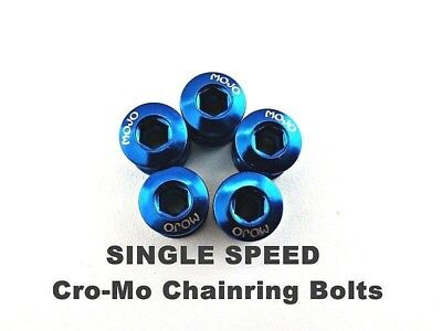 Single Speed Track Fixed Gear Cro-Mo Chainring Bolts RED