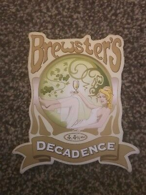 Brewsters Decadence Beer Pump Clip Breweriana Brand New Free Fast P+P