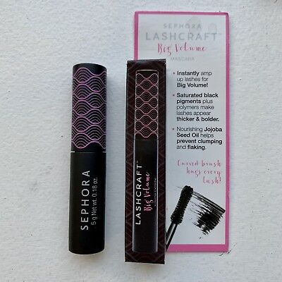 99a5a7b3d9c Sephora Lashcraft Big Volume Mascara-Noir Black Travel Size .18 oz/5 g