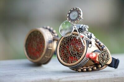 Steampunk Goggles Halloween Outfit Costume Burning Man Festival Accessories Gift