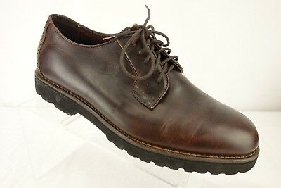 54e58c2a5d3a4 TOMMY HILFIGER BROWN Leather Oxford Shoes Men s Size US 13 Medium ...