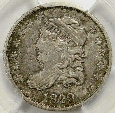 Pcgs Xf45 1829 Capped Bust Half Dime