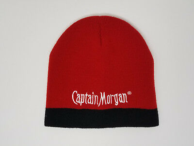 d29b37d5c37 Red Captain Morgan Spiced Rum Knit Winter Hat Beanie w  Embroidered  Lettering