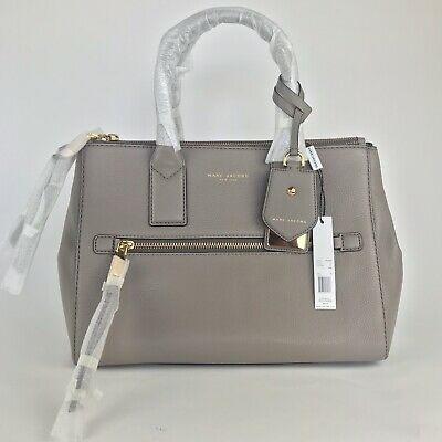 c1e54365c198 Marc Jacobs  550 NWT Recruit East West Tote LEATHER Luggage Tag Bag Work  Purse