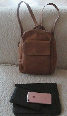 Tignanello Taupe Tan Soft Real Leather Medium Backpack Purse Bag.  19.99  Buy It Now 26d 12h. See Details. TIGNANELLO Organizer Leather Backpack Purse . 706b8a724752f