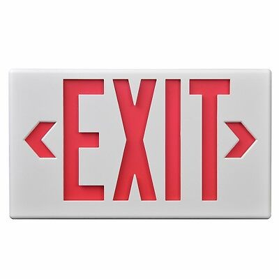 Cooper Lighting Sure-Lites LPX6 LED Emergency Exit Sign Light Red/Green Letters