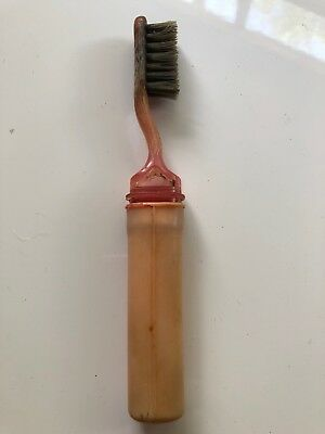 Retro Vintage Bakelite Toothbrush. Has All Of It's Bristles. VGC For It's Age