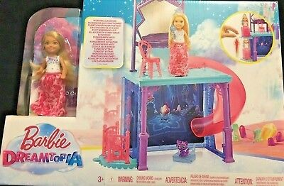 Barbie Dreamtopia Doll and Vanity Set With Slide and Elevator 3+ NEW