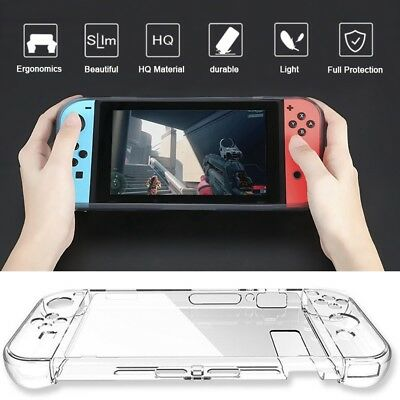 Transparent Clear Shockproof Hard Case Cover For Nintendo Switch Gamepad Console