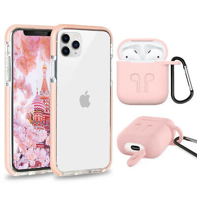 Cute Shockproof Phone Case+ Airpods Cover For iPhone 8 Plus 7 Plus XR XS Max 10