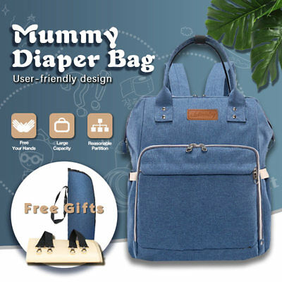 Baby Diaper Changing Luxury Backpack Multifunctional Nappy Bag Waterproof Mummy