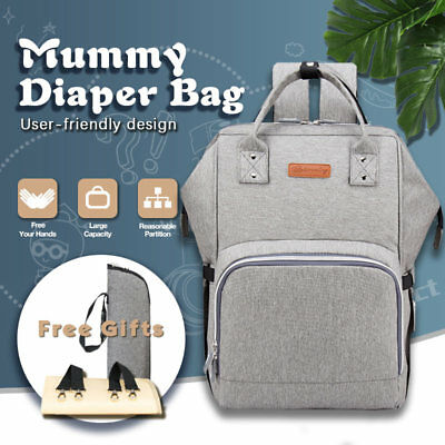 Luxury Baby Diaper Multifunctional Nappy Mummy Backpack Changing Bag Waterproof