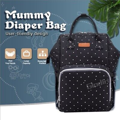 Waterproof Mummy Multifunctional Nappy Luxury Backpack Baby Diaper Changing Bag