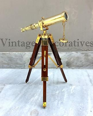 Collectible Vintage Maritime Brass Push Button Sundial Pocket Compass