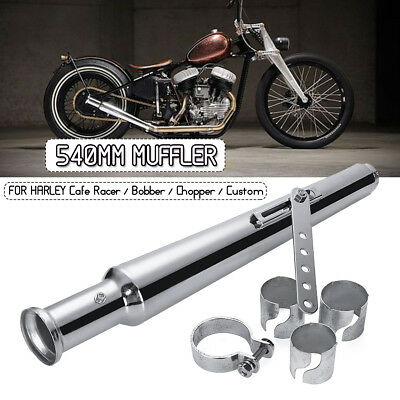 Motorcycle Exhaust Muffler Cocktail Pipe Shaker Tulip Bell End + Reducer AU