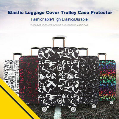 AU 18-32'' Travel Luggage Suitcase Protector Cover Elastic Scratch Dustproof Bag