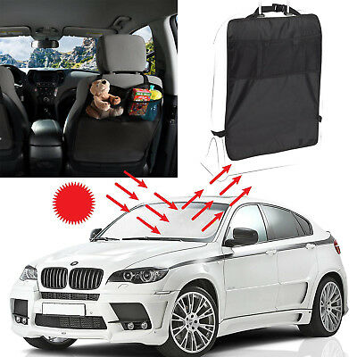Front Window Sun Shade +Car Back Seat Storage Hanging Kick Mats Back Seat Cover