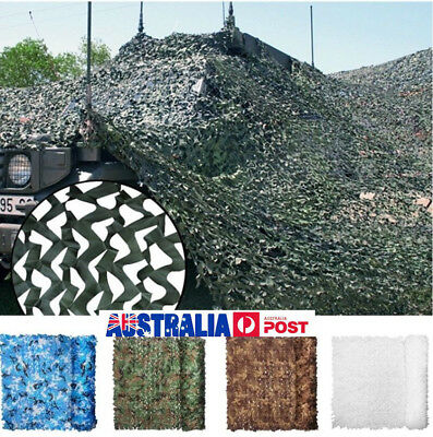 AU Camo Net Cover Camouflage Netting Hunting Shooting Camping Army Hide Colors