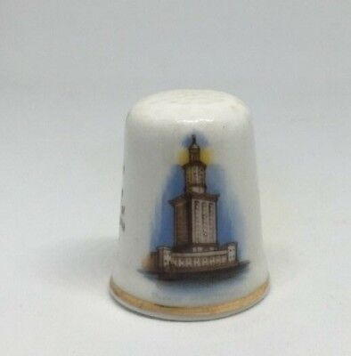 Collectable Thimble -  SEVEN WONDERS OF THE WORLD PHAROS OF ALEXANDRIA  (AA104)