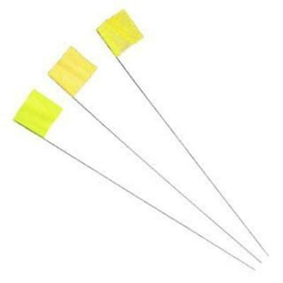 IRWIN 2034205 STRAIT-LINE Yellow Stake Flags, 100 Piece/Bundle