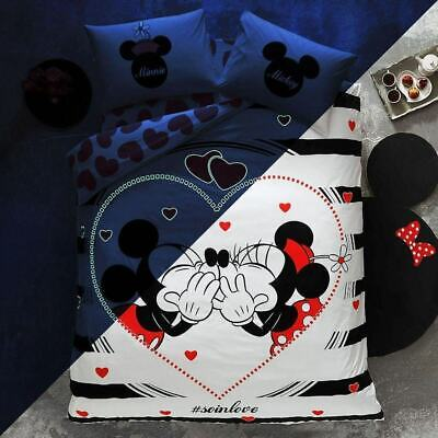 Valentinstag Bettwäsche Set 200x220 Disney Minnie Und Mickey Mouse