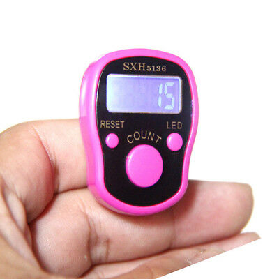 Digit Digital LCD Electronic Golf Finger Hand Ring Knitting Row Tally Counters