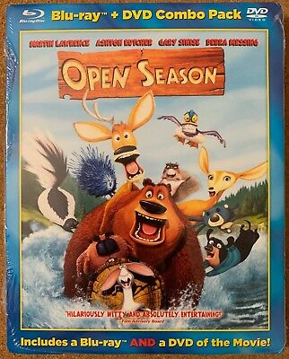 New Open Season Blu Ray Dvd 2 Disc Set Rare Oop Walmart Exclusive + Slipcover