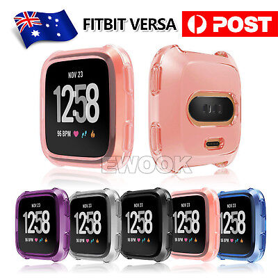 Silicone Protective Case For Fitbit Versa Smart Cover Watch Accessories Shell