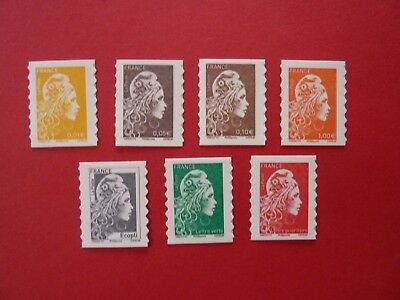 2018 Neuf Marianne L'engagee  Adhesif  Yseult Yz Digan Serie 7 Timbres